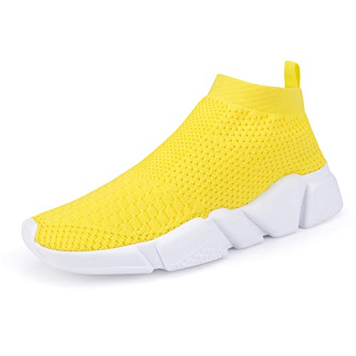 WXQ Women's Athletic Walking Shoes Lightweight Fashion Sneakers Breathable Running Shoes Yellow 39