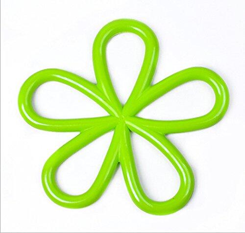 Gullor 3PCS Plum Fleur Pad matériaux respectueux de l'environnement d'isolation PVC créative Tasse de Mode Russes Bols Mat