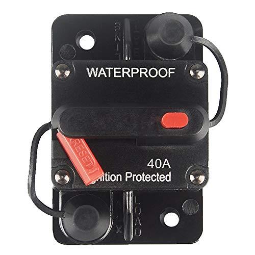 OUHL 40 Amp Circuit Breaker Manual Reset 30-250A for Car Truck Rv ATV Marine Trolling Motors Boat Vehicles,12V-48V DC (40A)