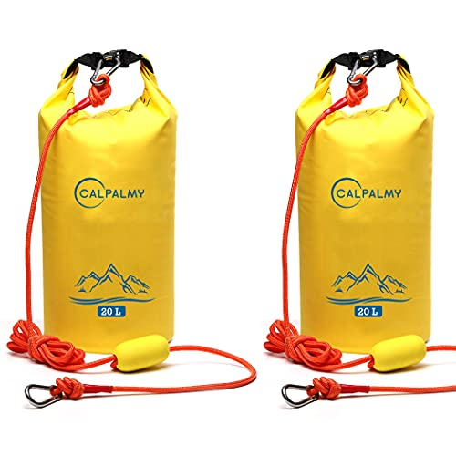 (2-Pack) 2-in-1 Sand Anchor for Small Boats, Power Watercrafts, Canoes and Kayaks   Waterproof Dry Bag for Hiking, Camping, Water Sports, Kayaking, Boating, Surfing and Tubing