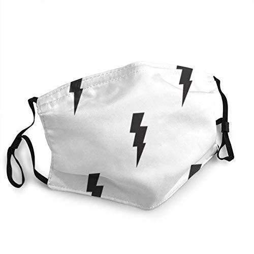 Xiumeimei Comfortable Mundabdeckungen Lightning Bolts Thunderbolts Sonnenschutz Mode Bandana Kopfbedeckung for Fishing
