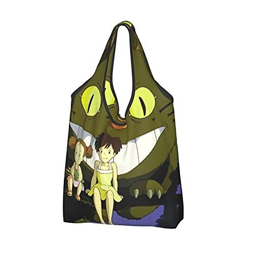 My-Nei-Ghb-eller Tot-Oro extra stor shoppingväska återanvändbar hopfällbar shoppingväska hållbara bärbara matkassar förvaringsväskor väskor med långt handtag