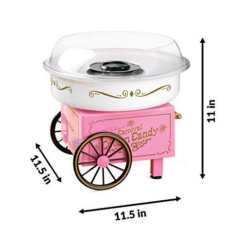 Nostalgia PCM305 Vintage Hard & Sugar-Free Cotton Candy Maker, Main, Pink