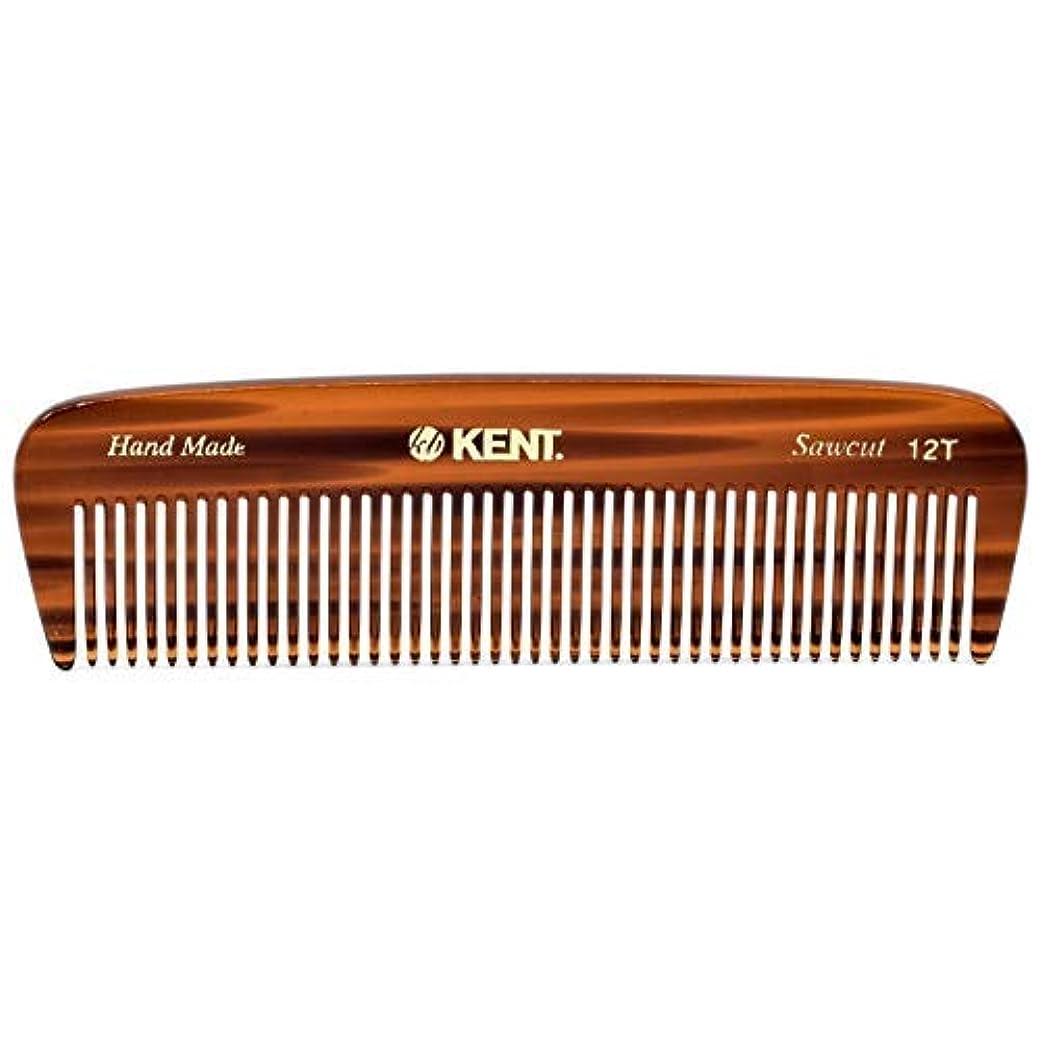 タックル彼女の合計Kent 12T Handmade Medium Size Teeth for Thick/Coarse Hair Comb for Men/Women - For Grooming, Styling, and Detangling (5
