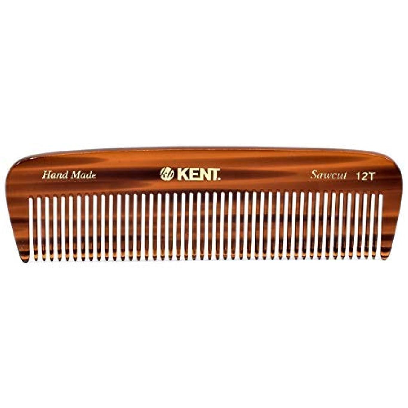 思いやりのある美的シャープKent 12T Handmade Medium Size Teeth for Thick/Coarse Hair Comb for Men/Women - For Grooming, Styling, and Detangling (5