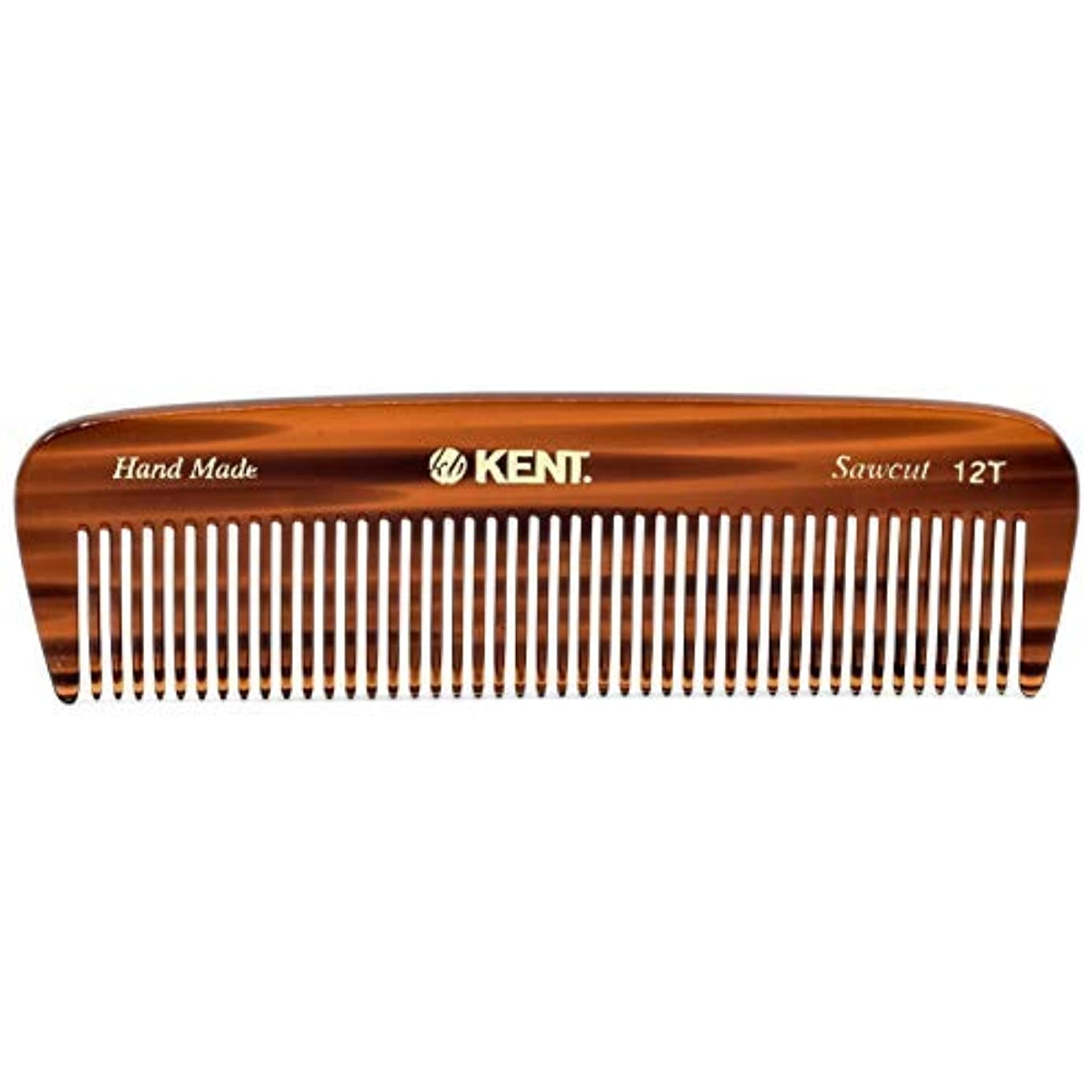 トラブル大聖堂考えたKent 12T Handmade Medium Size Teeth for Thick/Coarse Hair Comb for Men/Women - For Grooming, Styling, and Detangling (5