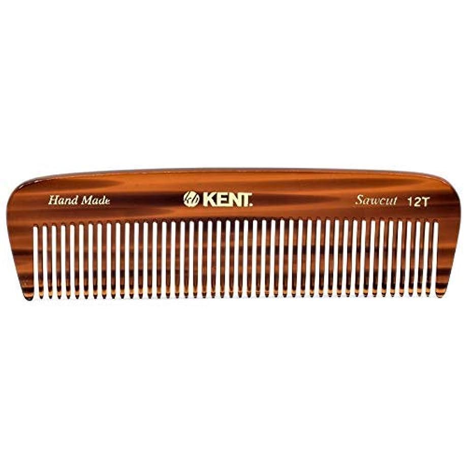 ペンフレンドピービッシュずっとKent 12T Handmade Medium Size Teeth for Thick/Coarse Hair Comb for Men/Women - For Grooming, Styling, and Detangling (5