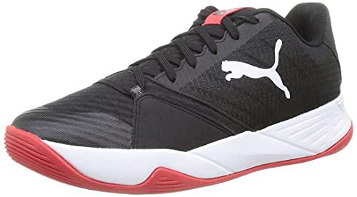 Puma Accelerate Pro, Zapatillas de Balonmano Unisex Adulto, Black Whi, 43 EU