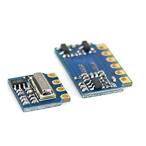 ORIGO 3pcs RF 433 MHz für Sender-Empfänger-Modul RF Wireless Link Kit + 6PCS Feder Antennen Open-SMART für Arduino - Produkte, die Arduino-Boards mit den Offiziellen Arbeits
