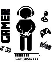 OOTSR Pegatinas de Pared para Niños, Boy Gamer Loading Controller Pegatinas de Pared, Murales Adhesivos y Pegatinas de Pared para Niños Sala Habitación Dormitorio Wall Stickers