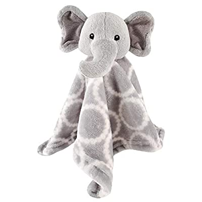 Hudson Baby Unisex Baby Security Blanket, Gray Elephant, One Size from BabyVision
