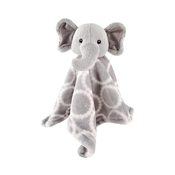 Hudson Baby Unisex Baby Security Blanket, Gray Elephant, One Size