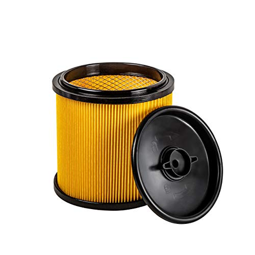 Vacmaster Replacement Standard Dry Cartidge Filter & Retainer Fits Vacmaster 5 to 20 Gallon Wet and Dry Vacuum Cleaner