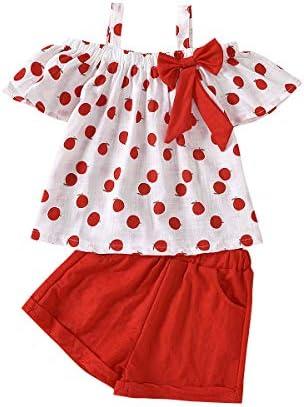 Toddler Baby Girls Clothes Ruffle Cami Polka Dot Tank Tops Blouse Striped Shorts Pants Kids product image