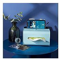 ティッシュボックス家庭用ファッションティッシュホルダーリビングルーム寝室キッチン収納ボックスABS素材ドレッシングテーブルアクセサリー20.5 * 16 * 11.5cm(Color:緑)