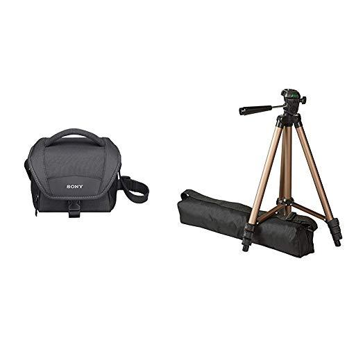 """Sony LCS-U11B Universal-Kameratasche für Camcorder und NEX schwarz & Amazon Basics 127cm (50\"""") Lightweight Tripod with Bag"""