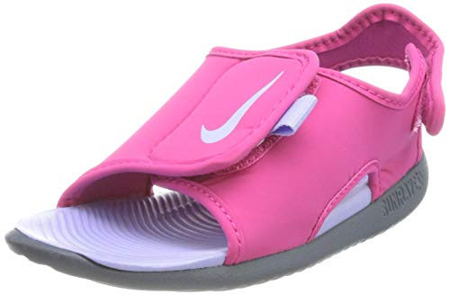 Nike Sunray Adjust 5 V2 (TD), Scarpe da Ginnastica Unisex-Bambini, Fireberry/Purple Pulse-Thunder Blue, 19.5 EU