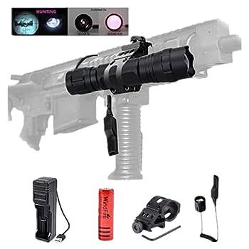 Torche LED à lumière infrarouge pour illuminateur IR 940nm, lampe de poche rechargeable à vision nocturne avec support décalé, torche à pressostat à distance pour la chasse aux prédateurs