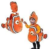 Bonito disfraz de Nemo de pez payaso de Navidad de Pixar, película animada Buscando a Nemo, disfraz de Cosplay de Halloween para fiesta de bebés y niños