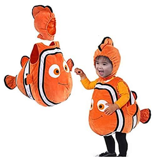 Nettes Weihnachtsfisch-Clownfisch-Nemo-Kostüm von Pixar Animationsfilm, der Nemo-Halloween-Cosplay-Kostüm für Baby-Kinder-Party findet