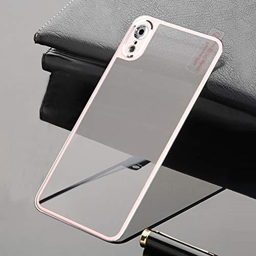 No Brand® luifel gemaakt van gehard glas, screen protector gemaakt van titaniumlegering, metalen rand, volledige afdekking, gehard glas voor iPhone XR (zwart), White