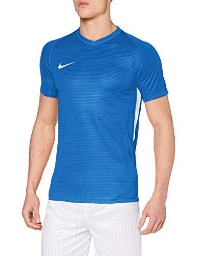 NIKE M NK Dry Tiempo Prem JSY SS T-Shirt, Hombre, Royal Blue/Royal Blue/White/White, L
