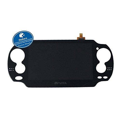rinbers® Schwarz Große LCD-Display mit Touch Panel Digitizer Ersatz für Playstation PS Vita PSV 10001001