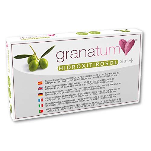 Granatum Plus   Extracto de Olivo   Hidroxitirosol Plus   Complemento alimenticio natural   Polifenoles naturales   Complemento nutricional   Extracto de hojas de olivo   (1 caja de 30 cápsulas)