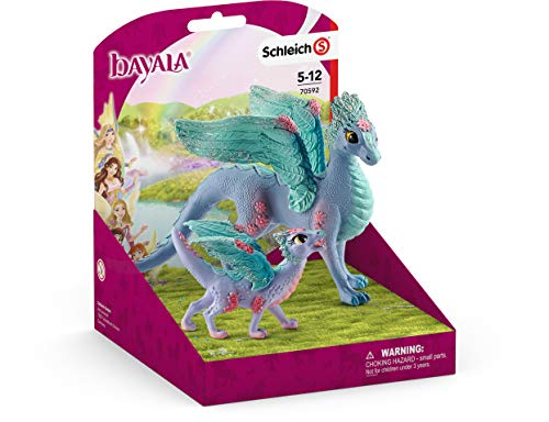 Image of the SCHLEICH bayala Flower Dragon and Baby Imaginative Toy for Kids Ages 5-12