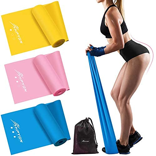 HPYGN Resistance Bands Set, Exercise Bands for Physical Therapy, Strength Training, Yoga, Pilates, Stretching, Non-Latex Elastic Band with Different Strengths,Workout Bands for Women