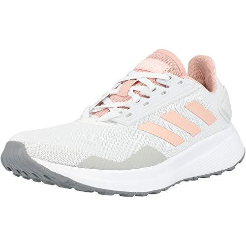 adidas Duramo 9, Zapatillas de Carretera Mujer, Dash Grey Pink Spirit Footwear White, 38 2/3 EU