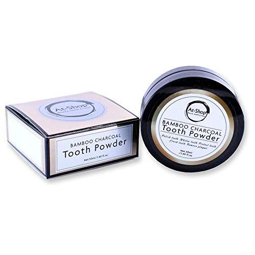 Whitening Teethpowder | Charcoal tandenbleker | tanden witten | 100% natuurlijk |40 g | tandbleek poeder | tanden bleken