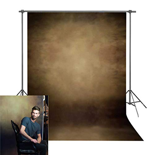 BINQOO 5x7ft Abstract Brown Portrait School Photo Backdrop Solid Color Photography Background Baby Headshots Photocall Adult Child Travel Family Newborns Party Decoration Studio Props