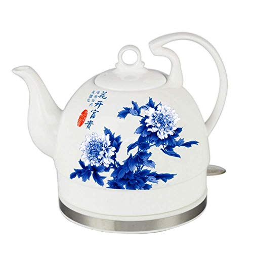 Hervidor de Agua inalámbrico de cerámica EleActric, Jarra de 0,8 l, 1000 W de Agua rápida para té, café, Sopa, Base extraíble de Avena, protección para hervir en seco