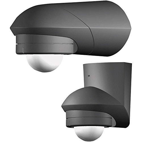 Grothe 5167042 Bewegungsmelder Grad 230 V, Aufputz, IP55, Mc Guard Professional Line BM 120 sw, schwarz