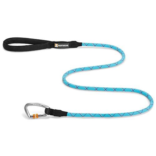 RUFFWEAR, Knot-a-Leash Dog Leash, Climbing Rope Lead for Everyday Use, Blue Atoll, Large