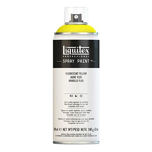 Liquitex Professional Spray Paint - Acrylfarbe, Farbspray auf Wasserbasis, lichtecht, 400ml Acrylspray - Gelb - fluoreszierend
