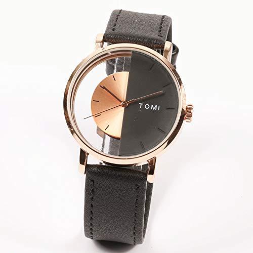 Lvmiao Reloj Hueco, Reloj de Moda Simple, Reloj de Concepto Creativo de Personalidad Fresca, Marea Impermeable Masculina y Femenina,4