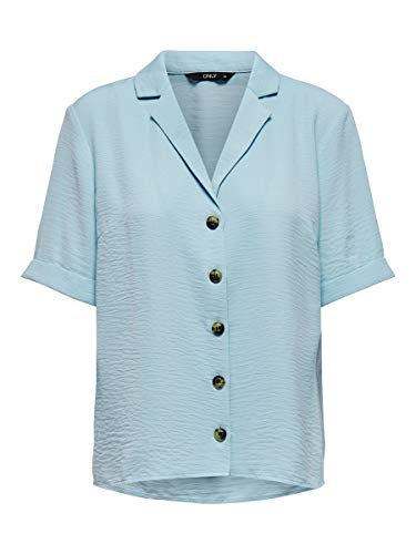 Only Onlsky S/s Shirt Solid Noos Wvn Blusas, Skyway, 34 para Mujer
