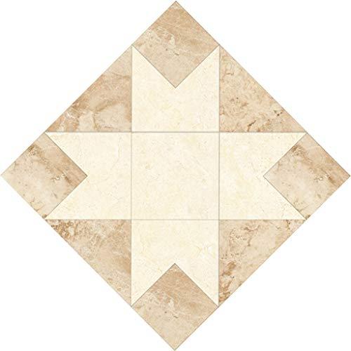 jieGorge 10 Pcs/Set Ceramic Tile Stickers Self Adhesive Tiles Art Diagonal 3D Floor Stick, Home Decor Sales (C)