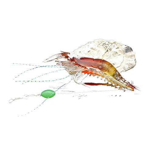Cdrox Angelhaken Soft-Garnele-Köder Salzwasser Elritze Fisch-Köder-Lachsforelle Bass Künstlicher Köder Tackle