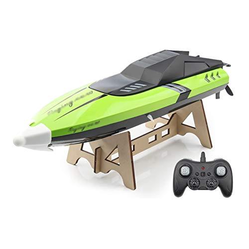 AFYH Barcos de radiocontrol, Remote Control Electric Racing Boat 2.4GHz Radio Racing 4CH Barco 25 km/h Doble protección y batería de Larga duración para niños y Adultos, B