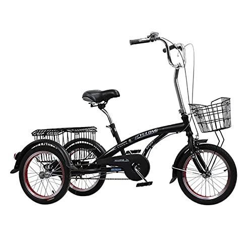 Triciclo de Adultos Triciclo Adulto Triciclos Adultos Cesta De Carga Trible Biciclete Biciclete Bicicleta De 3 Ruedas De 3 Ruedas Para Compras De Compras De Compras Para Mombres De Hombre(Color:NEGRO)