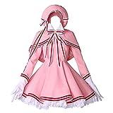 6 PCS/Set Cosplay Costume Halloween Masquerade Card Captor CCS Kinomoto Sakura Maid Lolita Gothic Dress Mignon Jupe Costumes avec Accessoires en Option Perruque