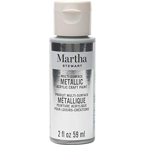 Martha Stewart Crafts Multi-Surface Metallic Craft Sterling, 2 oz Paint