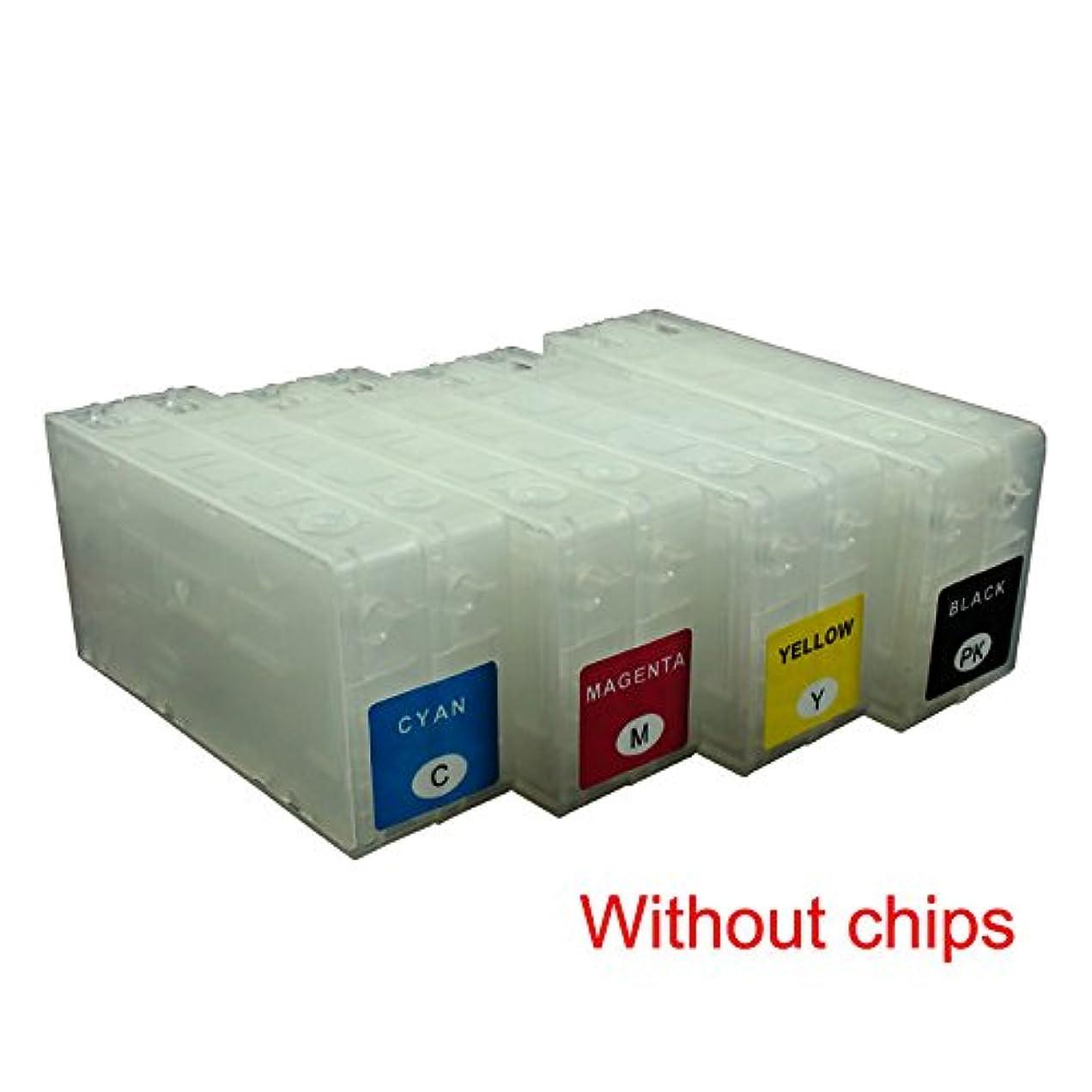 リンケージモザイク超音速ceye non-oem詰め替え可能インクカートリッジキットfor Epson tm-c3500?tc-c3520?sjic22p空