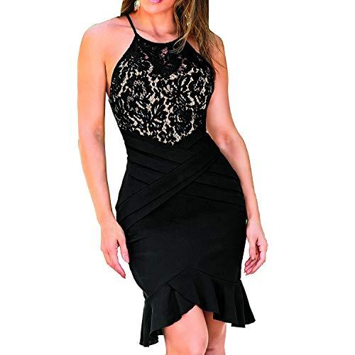 cklass 983-37 Vestido Corto Mujer Casual Sin Hombros Entallado Falda Talla CH