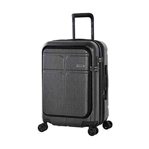 Eminent Hand Luggage Load 57 cm 54 L Expandable Secure Zippers 4 Double Silent Wheels Graphite