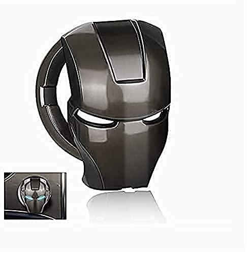 Ignition Button Cover(Universal for All Cars) Titanium Black Zinc Alloy Start/Stop Push Button Lambo Style Iron Man Cover Decorative auto Accessories