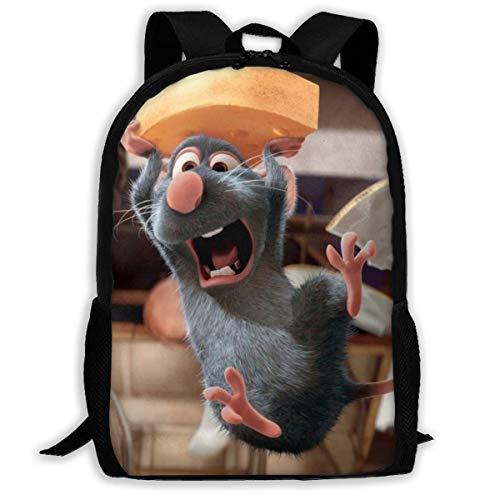 Ratatouille Bapa de viaje para adultos, compatible con portátiles de 15,6 pulgadas, bolsa de colegio, casual, Rusa para hombres y mujeres